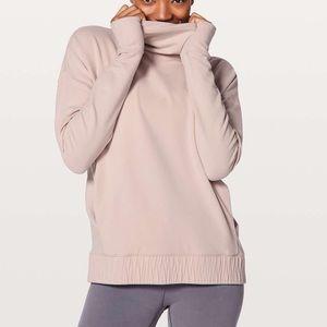 Lululemon NWT Stress Less Pullover Porcelain Pink